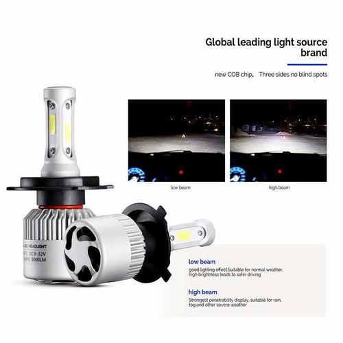 kit luces led cree h7 o 9006 vw voyage 16.000 lumenes promo