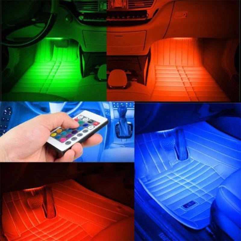 Luces-LED-Para-Autos-Carro-Coche-Interior-De-Colores-Decorativas-accesorios-luz