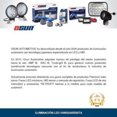 kit luces led osun tipo xenon focos faros auto h4 h13 9007