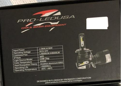 kit luces led para auto h-4 new pro-ledusa 8000lm