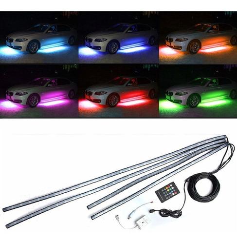kit luces led rgb iluminacion tuning debajo del auto karvas