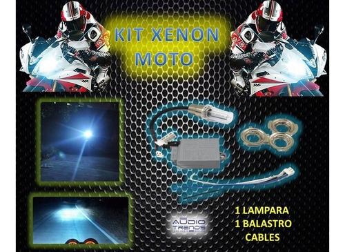 kit luces xenon para moto alta y baja clase aaa  local nuevo