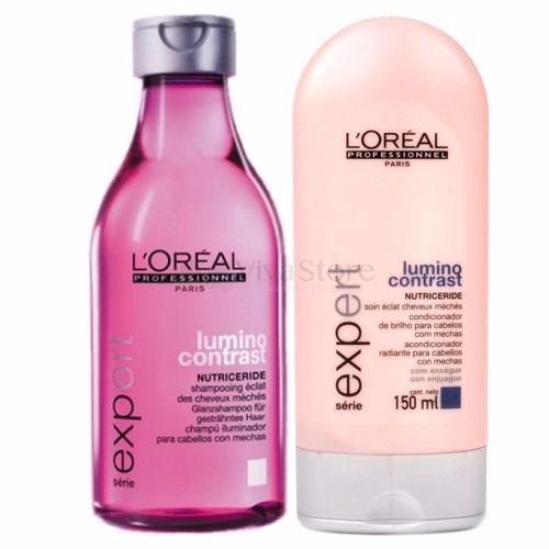 kit lumino contrast shampoo 250ml + condicionador 150ml