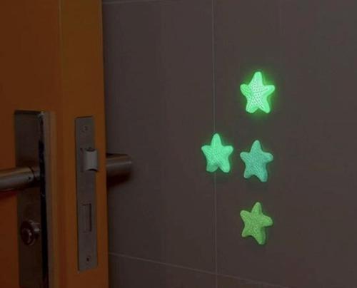 kit luminoso proteção porta parede borracha bebê segurança