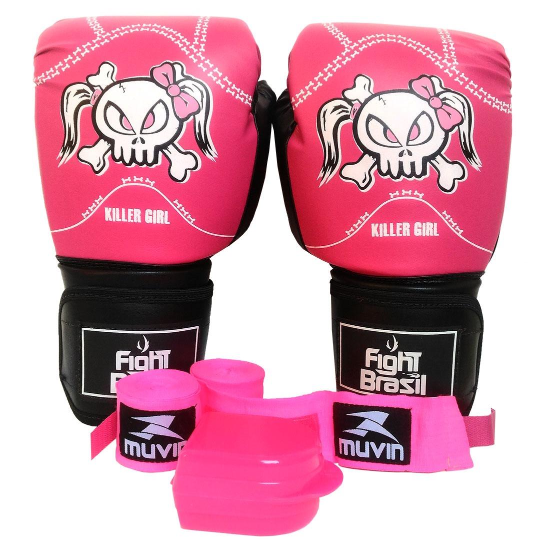 a3588e291 kit luva bandagem bucal muay thai boxe feminina fight brasil. Carregando  zoom.