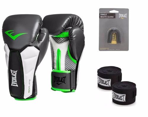 9e7984086 Kit Luva Boxe Elite Prime Isoplate Everlast Bucal Bandagem - R  250 ...