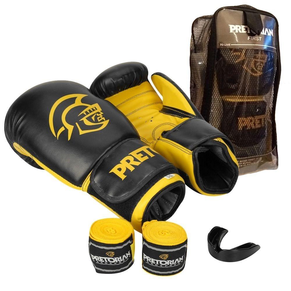 4d944eb7a kit luva boxe muay thai kickboxing-pretorian first-original. Carregando zoom .