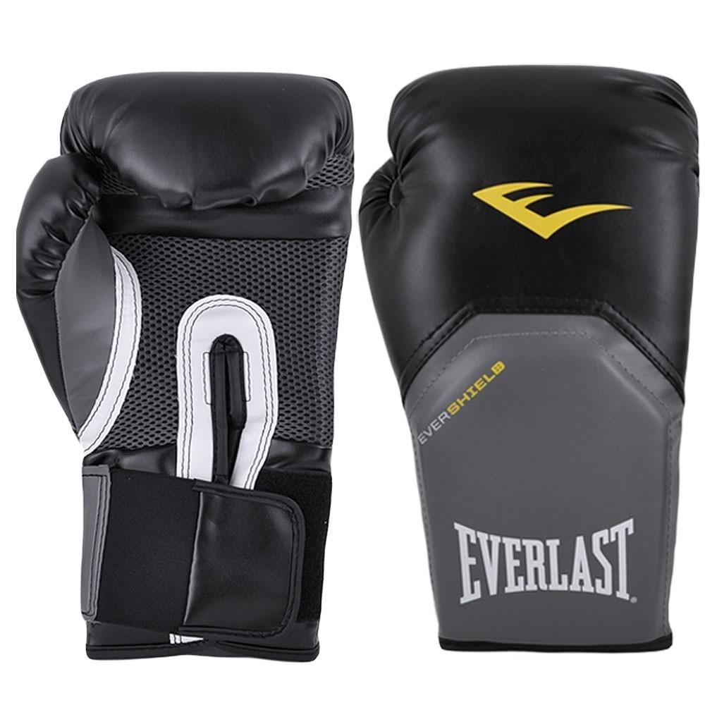 kit luva de boxe - muay thai everlast - pro style preto top. Carregando  zoom. fb5f8ba73073a