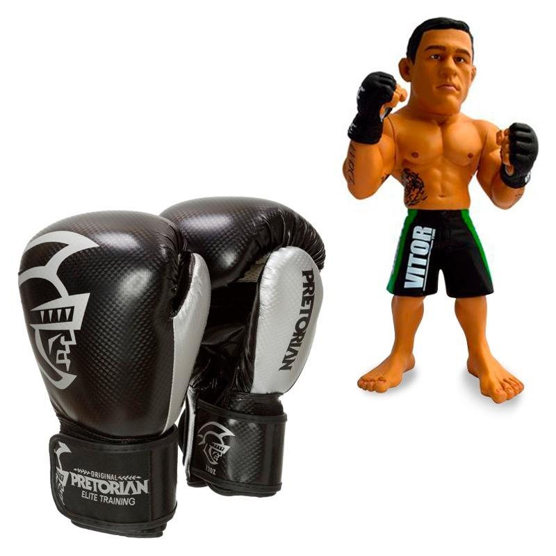9711ad01e15 kit luva de boxe pretorian elite 10oz preta + boneco ufc. Carregando zoom.