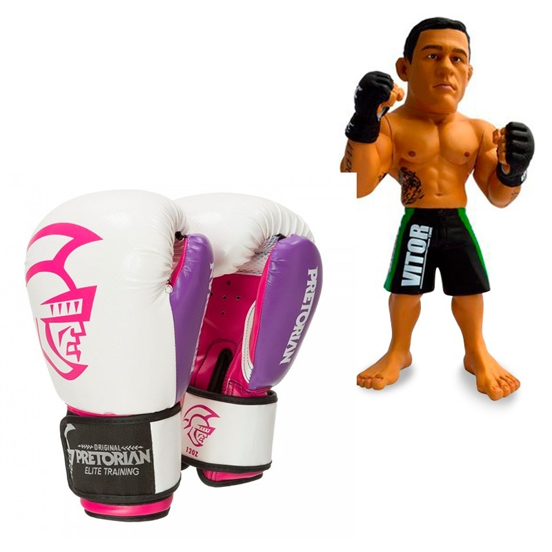 f8372cbb0 kit luva de boxe pretorian elite 14oz rosa + boneco ufc. Carregando zoom.