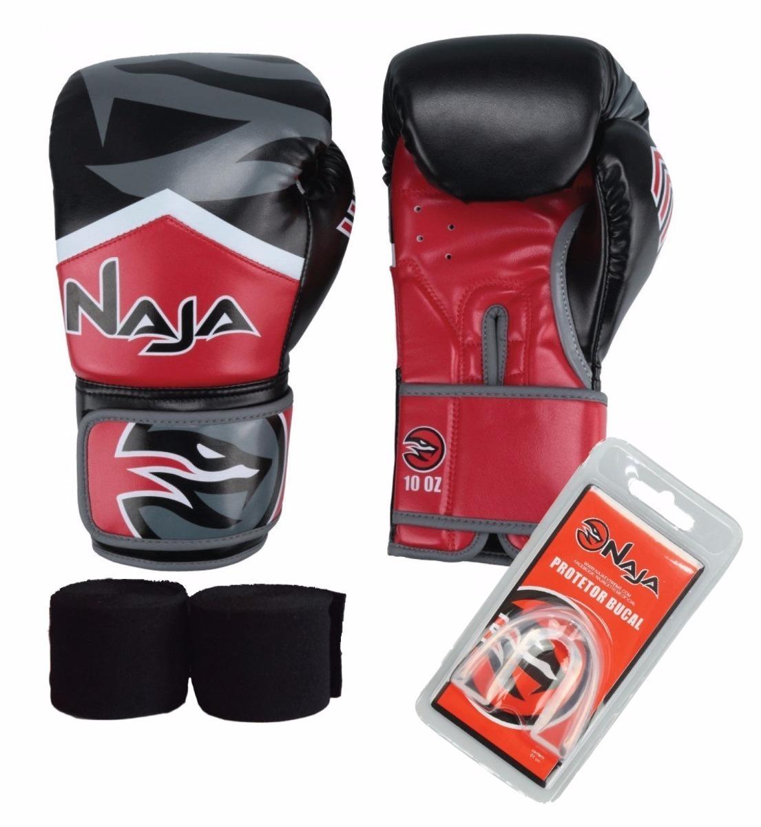 3b2439efd kit luva muay thai   boxe naja new extreme+band+p.bucal. Carregando zoom.