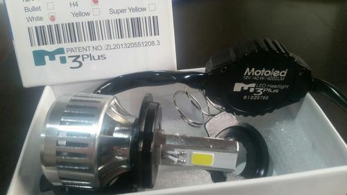kit luz bombillo led hid m3s plus 3000 lumens h4 moto auto