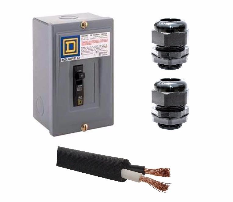 Kit luz caja pastilla interruptor 30a 10m cable uso - Modelos de interruptores de luz ...