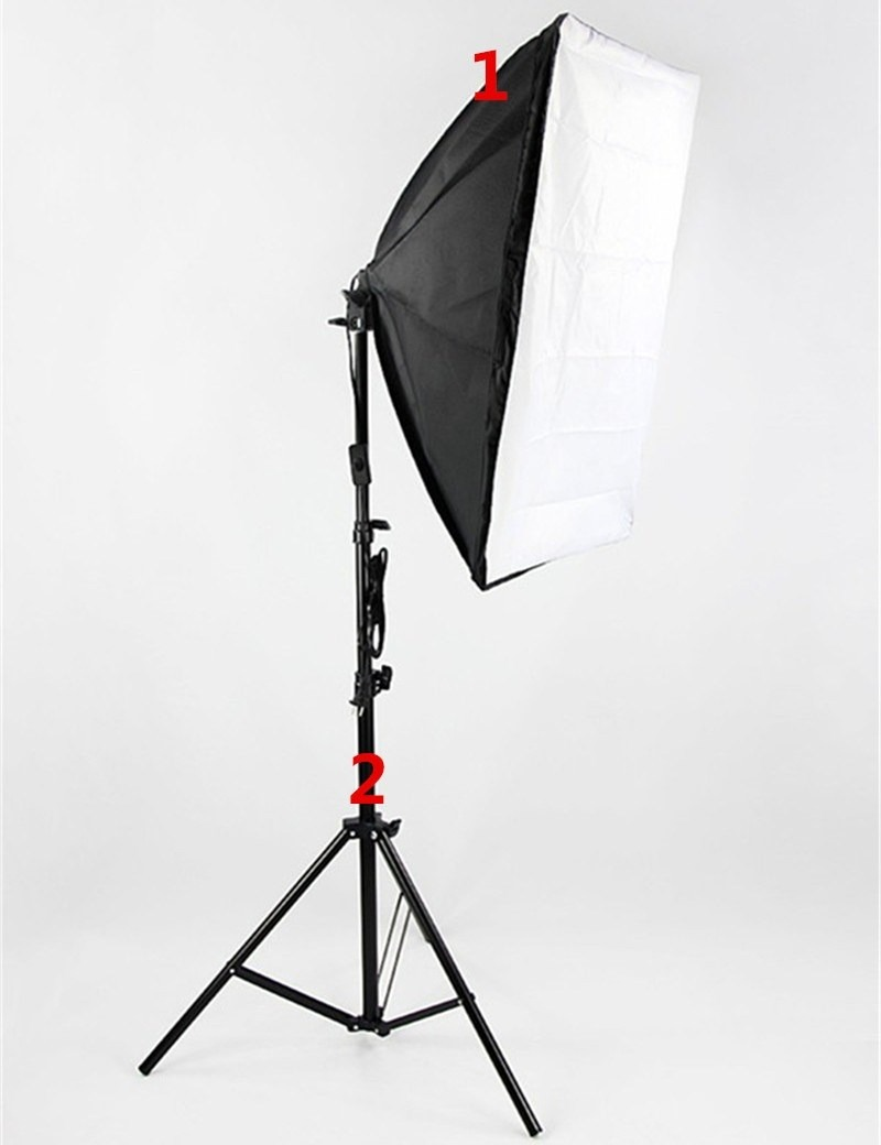 Kit luz cont nua soft box 50 x 70 e27 tripe 2m r 179 for Wohnzimmertisch 50 x 70