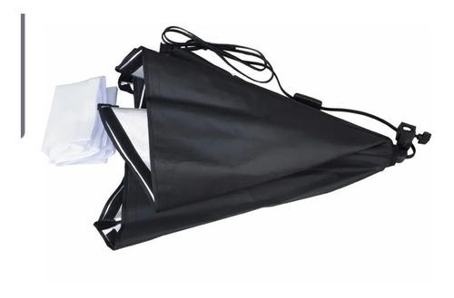 kit luz contínua softbox 50x70cm + tripé 2m e27 estúdio
