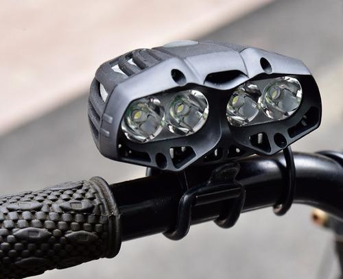 kit luz delantera bicicleta 10000 lumenes + luz trasera usb