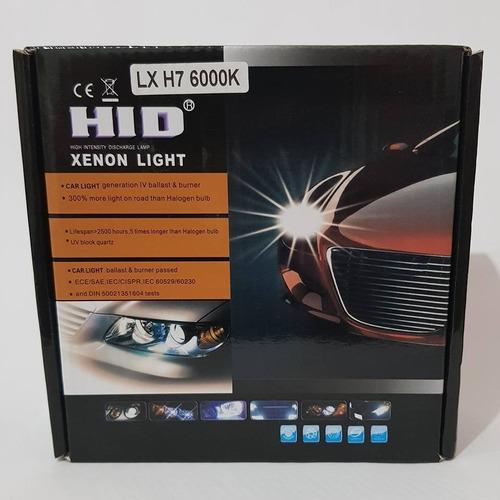 kit luz xenon 6000k 55watts azul baja alta 9004 h11 envio