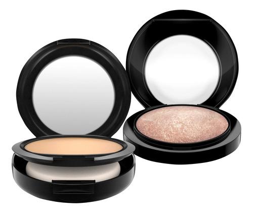 kit m·a·c mineralize powder + foundation nc25 (2 produtos)