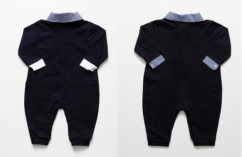 kit macacão social longo (2un) malha 100% algodão