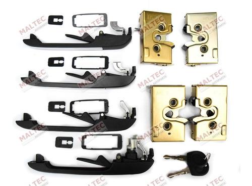 kit maçanetas fechaduras 4 portas inox santana / quantum /89