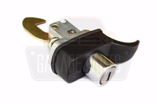 kit maçanetas portas motor capô fechaduras preto fusca 78/