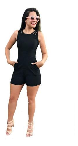 kit macaquinho + jardineira + conjunto cropped calça e short