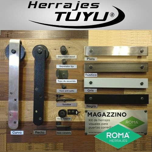 kit magazzino curvo barn puerta granero establo roma plata