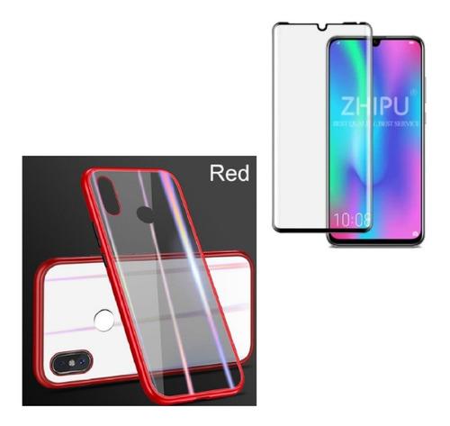kit  magnetico protector huawei p30 lite  + vidrio completo