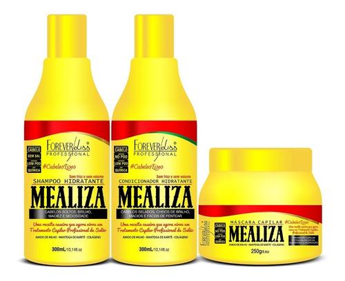 kit maizena capilar mealiza  forever liss