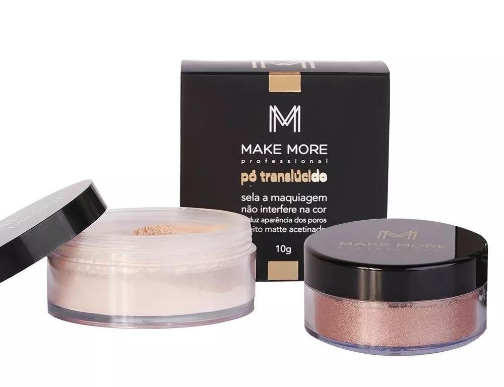 kit make more pó translúcido iluminador shine r 108 20 em