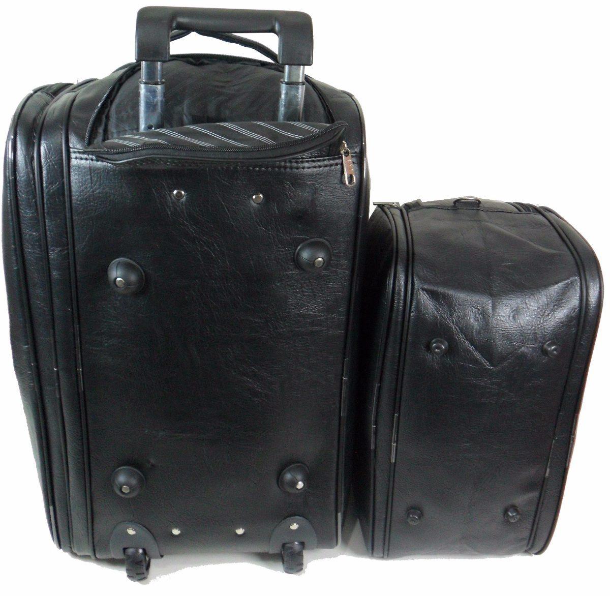 f313c3dfe15d9 kit malas viagem bolsa masculina grande couro resistente. Carregando zoom.