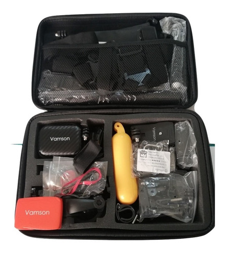 kit maleta de transporte camaras deportiva mas 28 accesorios