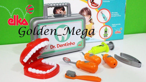 kit maleta dentista infantil doutor dentinho
