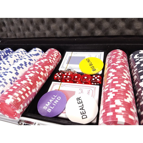kit maleta poker 500 fichas chip luxo para texas sem números