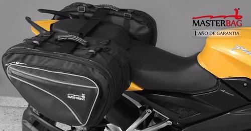 kit, maletas laterales masterbag parrilla rtr 200 tvs
