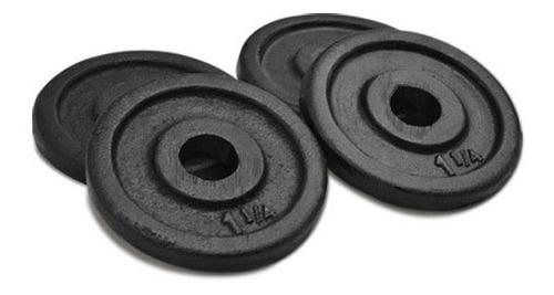 kit mancuerna roscada cromada metal + 5 kg en discos 30 mm
