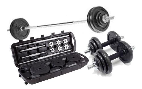 kit mancuernas o pesas tv 50 kilos gimnasio ejercicio + obsq