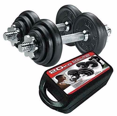 kit mancuernas pesas 20 kilos 12 discos ejercicio gimnasio