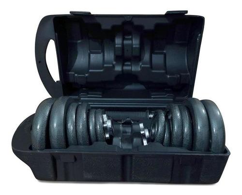kit mancuernas / pesas 21kg/44lb antideslizante estuche prof