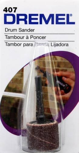 kit: mandril + banda para lijar dremel original 407 nuevo