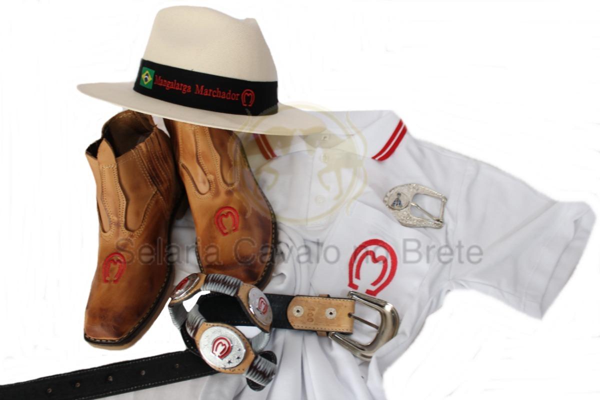 kit mangalarga camisa botina chapéu cinto e fivela oferta. Carregando zoom. fb847868ba4