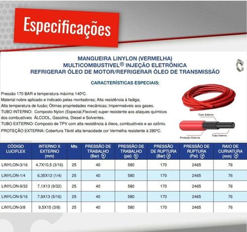 kit mangueira 9,5mm 3/8 injeção eletronica 1,5mt cash tank