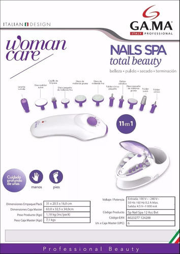 kit manicura pedicura gama (59) torno uñas pies manos accesorios - podologia - garantia oficial - nails spa fresas - 12