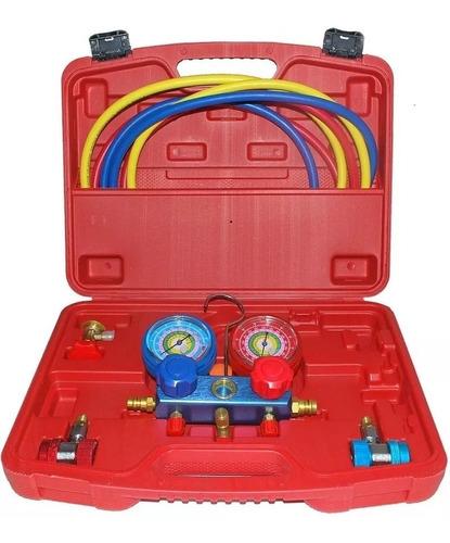 kit manifold +  detector de fuga gás de ar condicionado