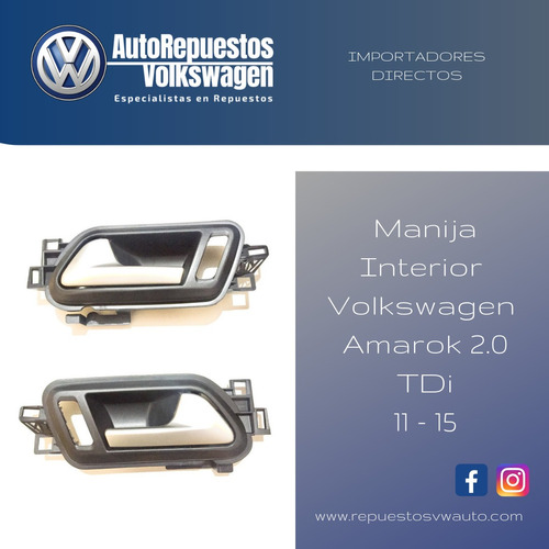 kit manijas interior volkswagen amarok 2.0 tdi 11-15