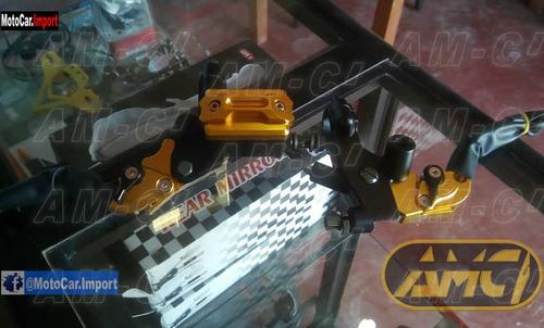 kit manijas regulables levers moto set completo yamaha honda
