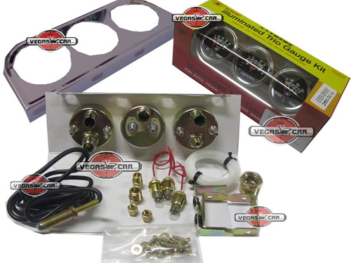 kit manômetro 3 relógio  pre óleo amperimetro temp agua c