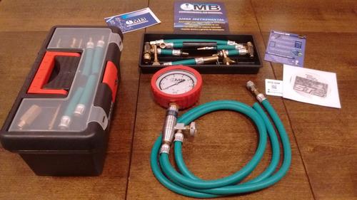 kit manómetro medidor presion nafta mb + dvd taller