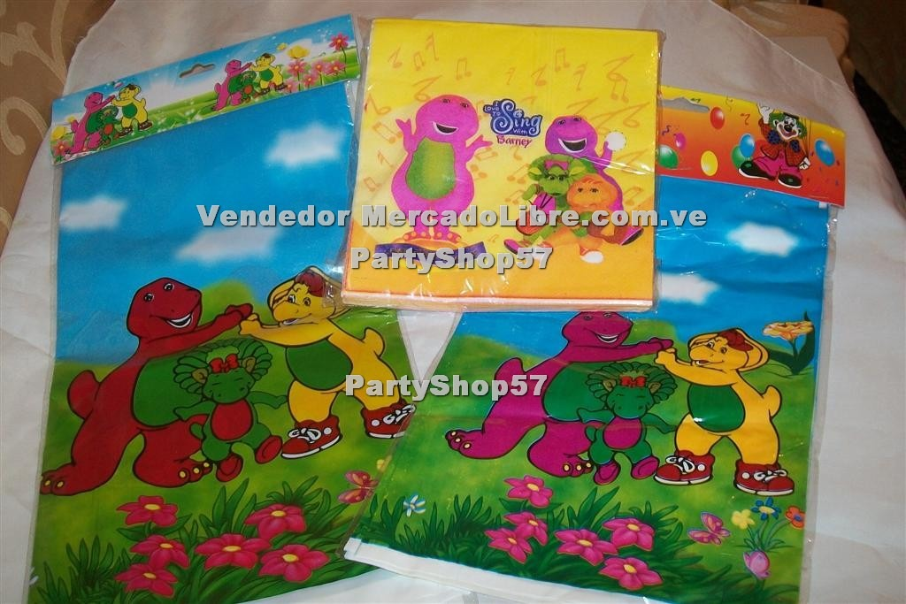 Feliz Kit Servilletas Cumple Mantel Bolsa Barney Kitty zGUqMpSV