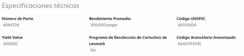 kit mantenimiento lexmark (40x4765), 300,000 paginas.-220v